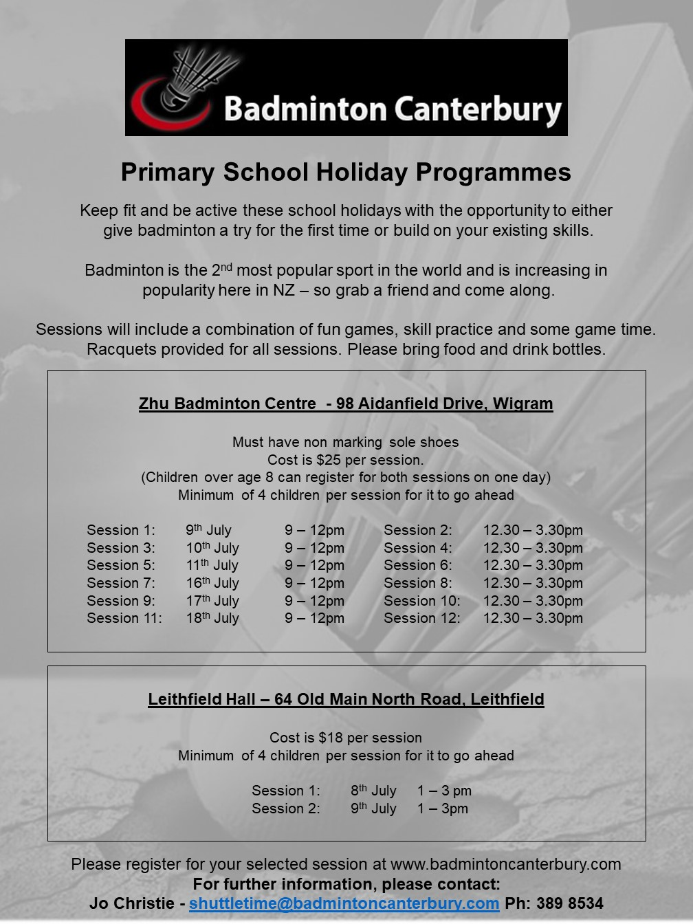 School Holiday Programme - July