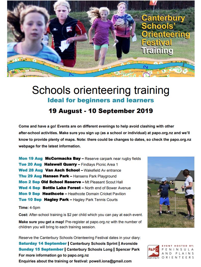 Schools Orienteering Training